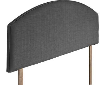 Swanglen Cleopatra Gem Fabric Headboard with Wooden Struts - Granite - Single 3ft