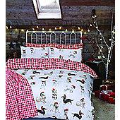 Christmas Dogs - Duvet Cover Set - Double