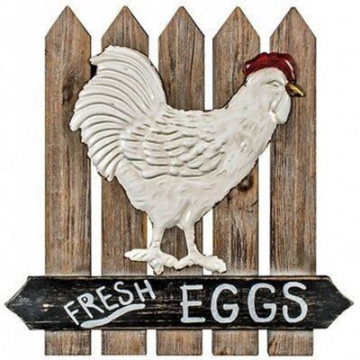 Fresh Eggs Wooden Wall Plaque