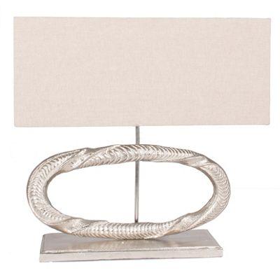 Aluminium Oval Sculpture Table Lamp Complete