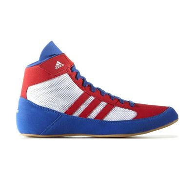 adidas Havoc Mens Adult Wrestling Trainer Shoe Boot Red/White/Blue - UK 11.5