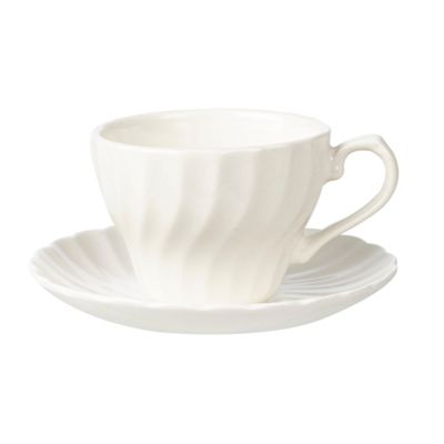 Churchill China Chelsea White Teacup and Saucer 0.24L