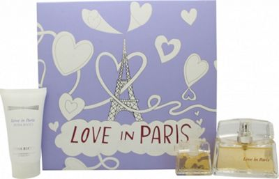 Nina Ricci Love In Paris Gift Set 30ml EDP + 50ml Body Lotion + 5ml EDP For Women