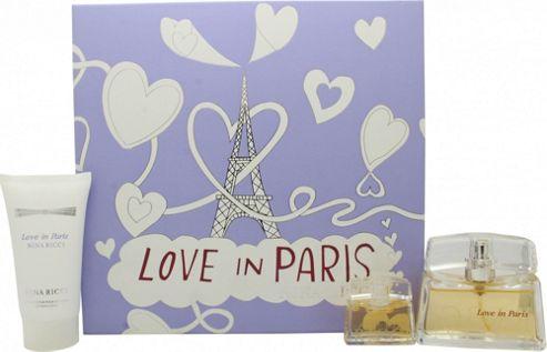 Nina Ricci Love In Paris Gift Set 30ml EDP + 50ml Body Lotion + 5ml EDP For Women