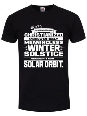 Winter Solstice Men's T-shirt, Black.