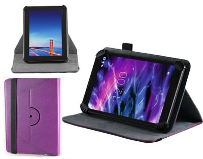 Navitech Purple Faux Leather Case Cover With 360 Rotational Stand For the Huawei Mediapad T1 10, 9.6