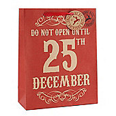 Red Do Not Open Christmas Gift Bag - Large