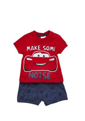 Disney Cars T-Shirt and Shorts Set Red/Navy 6-9 months