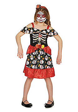 F&F Day of the Dead Halloween Costume - Red