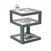 Rossini Triple Level Side/Coffee Table, Wood, Grey