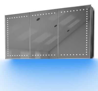Demist Cabinet With LED Under Lighting, Sensor & Internal Shaver Socket k377b
