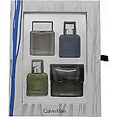 Calvin Klein Men's Mini Gift Set 15ml Eternity + 15ml Euphoria + 15ml Eternity Aqua + 15ml Reveal For Men