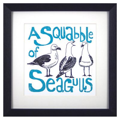 Animal Friends Framed Print - Seagulls
