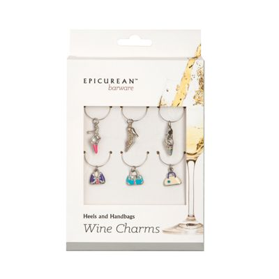 Epicurean Wine Glass Charms Heels and Handbags Set of 6