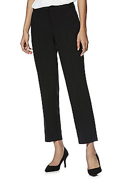 F&F Tapered Ankle Grazer Trousers - Black