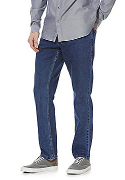 F&F 2 Pack of Basic Straight Leg Jeans - Mid Wash