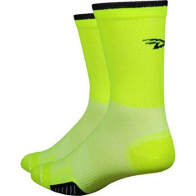 Defeet Cyclismo 5 Sock Yellow/Black Size: L