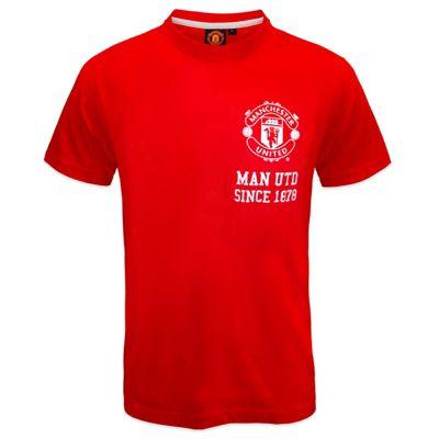 Manchester United FC Mens T-Shirt Red 1878 Medium