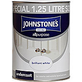 Johnstone's 303903 All Purpose Undercoat Paint - Brilliant White 1 .25 litre