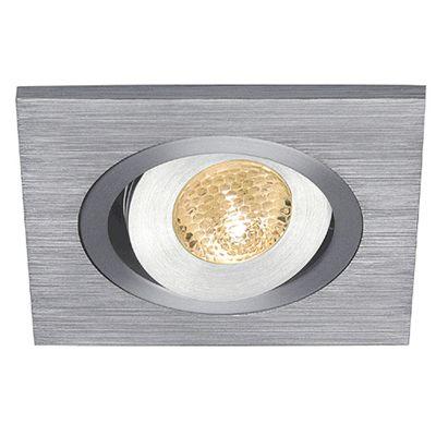 Lelex Downlight Square Aluminium Brushed Warm White LED