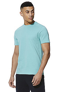 F&F Crew Neck T-Shirt with As New Technology - Aqua