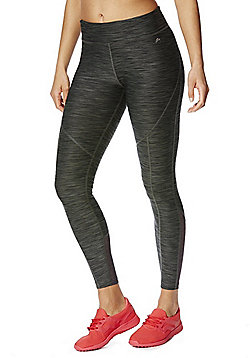 F&F Active Space Dye Leggings - Khaki