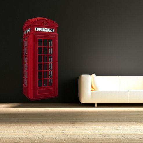 British Phone Box Wall Sticker