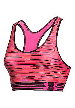 Under Armour HeatGear Armour Printed Womens Sports Bra - Pink