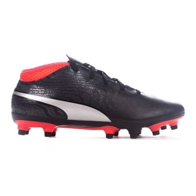 Puma One 18.4 FG Firm Ground Kids Football Boot Shoe Black/Red - UK 1
