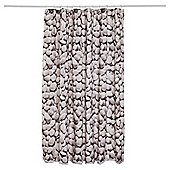 TESCO PEBBLE SHOWER CURTAIN