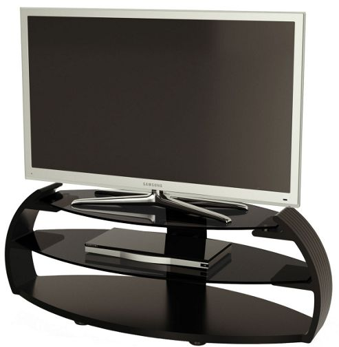Alphason Pebble Series Black TV Stand For Up To 50 inch