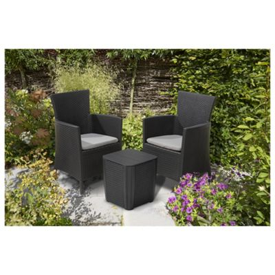 Rattan Garden Furniture Tesco buy keter iowa rattan effect bistro set, graphite from our plastic