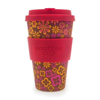 Ecoffee Cup Yeah Baby with Crimson Silicone 14oz