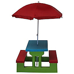 Kids Resin Picnic Bench Parasol