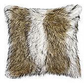 Sable Faux Fur Cushion - Brown