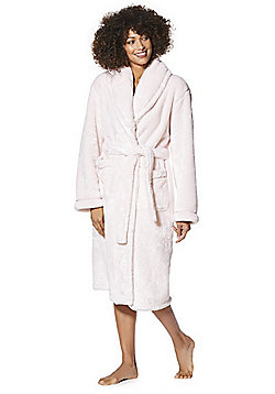 F&F Plush Fleece Dressing Gown - Pink