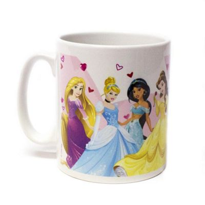 Disney Princess Personalised Couples Mug - Group