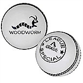 6 X Woodworm Supreme Country 5 1/2Oz Cricket Balls White