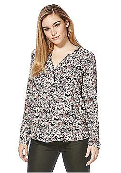 Jacqueline De Yong Cora Floral Shirt - Black