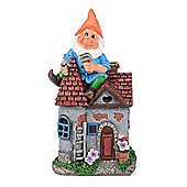 Christow Solar Powered Gnome Fixing House