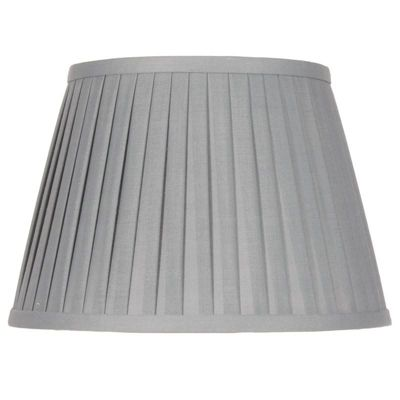 40cm Grey Poly Cotton Knife pleat Shade