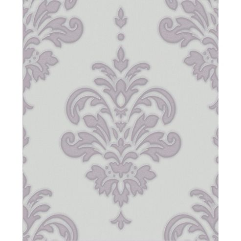 Superfresco Olana Glitter Shimmer Damask Lilac Wallpaper