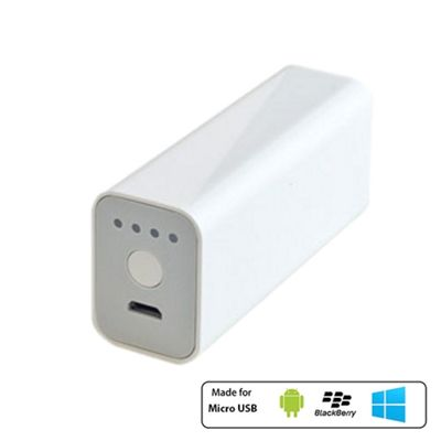 Powerocks Stone Universal External Battery Charger 3000mAh White by Cleverboxes