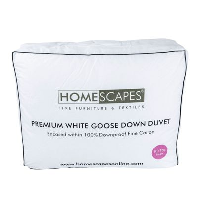Premium White Goose Down 9 Tog Single Size Duvet