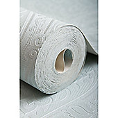 Graham & Brown Savannah Textured Damask Teal Wallpaper
