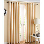 Enhanced Living Santiago Lined Voile Eyelet Cream Curtains - 90x72 Inches (229x183cm)