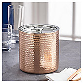 Fox & Ivy Copper Hammered Double Walled Ice Bucket