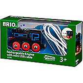 BRIO 33599 Rechargeable Engine with mini USB cable for Wooden Train Set