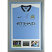 Signed Sergio Aguero 2014-15 Man City FC Nike Shirt