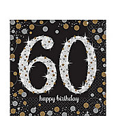 Sparkling Celebration Age 60 Lunch Napkins - 2ply Paper